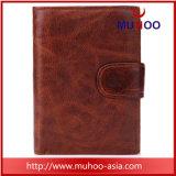 Portefeuille en cuir véritable titulaire de la carte de l'Organiseur des hommes bourse avec coin Pocket