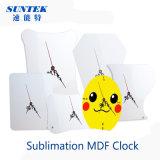 Пустые Сублимация MDF часы для передачи тепла печать
