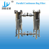 De duplex Parallelle Huisvesting van de Filter van de Zak van de Aansluting voor het Filtreren van Drinkwater/Mineraalwater