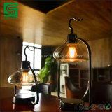 ガラス蓋および調光器が付いている装飾的な金属の卓上スタンドLEDの立場ライト