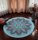 De cirkel drukte de Diameter van 140cm om de Mat van de Yoga van het Tapijt van de Meditatie af