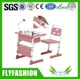 Tabelas e cadeiras plásticas cor-de-rosa da escola para a venda (SF-13S)