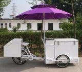 Fast food móvel móvel Multi-Functional Carga Triciclo Van Tuk Tuk do riquexó elétrico do carro do gelado do refrigerador e dos congeladores