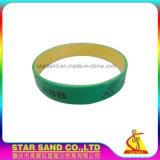 Bracelet fait sur commande de bracelet de logo d'impression de silicones en caoutchouc mous gentils de qualité