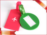 Étiquette molle de bagage d'unité centrale de logo estampée par étiquette de bagage de PVC de cadeau de course