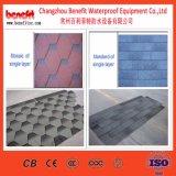 Diversos modelos del asfalto escalonan los materiales de construcción de los azulejos de material para techos que forman la máquina