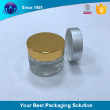 Coperchio di plastica della vite dell'oro per il vaso crema cosmetico di sigillamento