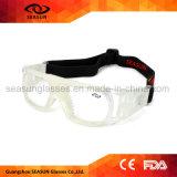 明確なHDの視野レンズの乗馬の安全ガラスのフットボールのバスケットボールは防護眼鏡を遊ばす
