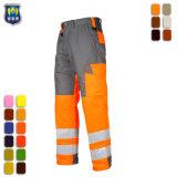 Rouge haute visibilité Pantalon de travail bon marché de la sécurité du fret
