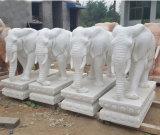 Nouvelle statue de marbre Outdoor Art Sculpture Sculpture de Pierre d'animaux pour le paysage
