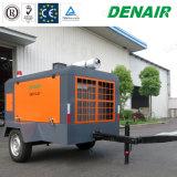 compressore d'aria a vite rotativo mobile portatile industriale 0.7MPa sulle rotelle