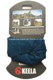 I prodotti della fabbrica hanno personalizzato la sciarpa tubolare del poliestere della stampa di marchio del collo blu di Microfiber con cartone