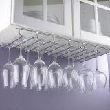Bajo el estante de sequía colgante del vidrio de vino del metal del sostenedor del vidrio de vino del metal de la cabina