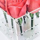 Romantische Duidelijke Acryl nam Plastic van de luxe de Doos van de Bloem toe