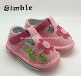 Цветов ходоков сандалий девушки ботинки первых различных кожаный