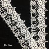 шнурок тесемки шнурка 7.5cm для платья венчания с милый листьями цветка и Tassels Hmw6227