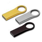 A movimentação relativa à promoção dourada/da tira anel chave do presente da pena personalizou a movimentação do flash do USB