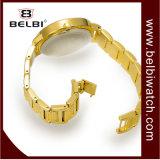 Belbi Luxuxkrokodil-Vorwahlknopf-Entwurf Diallady Handgelenk-analoge Schmucksache-Handgelenk-Quarz-Uhr