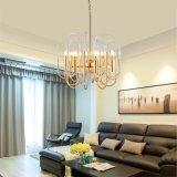Goldenes helles LuxuxDroplight Acrylschlaufen-Landhaus, das Pendent Lampe speist