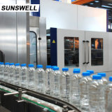 Sunswell agua potable de alta capacidad de llenado Bolowing maquinaria tapado