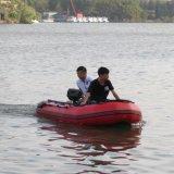 Inflables personalizada barco de pesca en el lago de casco rígido bote hinchable