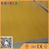 Base de madera del álamo E1 de la madera contrachapada 3-18m m de la melamina del grano