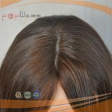 Golvende Pruik van het Haar van de Kleur van 100% de Bruine Maagdelijke (pPG-l-0493)