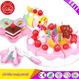 熱い販売のプラスチックバースデー・ケーキのおもちゃは演劇のふりをする
