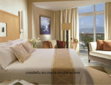 호텔 작풍 공단 면 줄무늬 백색 침구 세트