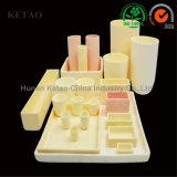 Piezas de cerámica del alúmina de la alta calidad, crisol de cerámica del alúmina