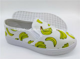 最も新しい子供の注入のズック靴のスリップオンの履物のスニーカーの靴(ZL1017-17)