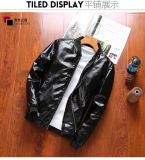 Пестротканая просто карманная холодная кожаный куртка