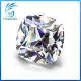 8x8mm 2,0 quilates, cerca de color blanco de la vieja Corte cojín Moissanite minas antiguas