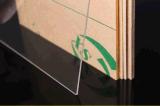 Placa acrílica do tamanho feito sob encomenda, placa plástica