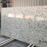 Lajes finas artificiais de pedra brancas de quartzo da cozinha do restaurante do hotel