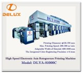 Entraînement d'arbre électronique, presse typographique automatique à grande vitesse de rotogravure (DLYA-81000C)