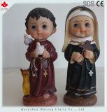 Custom Polyresin figuras en miniatura de dibujos animados figura religiosa elementos