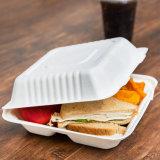 生物分解性の使い捨て可能なComposableのお弁当箱9のインチ3コンパートメント