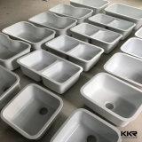 Kkr Undermount 판매를 위한 인공적인 돌 단 하나 부엌 개수대