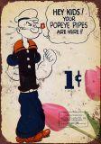 Dessin animé Popeye de signes d'étain
