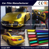 새로운 색깔 차 광택이 없는 크롬 얼음 필름 차 포장 접착성 비닐 1.52m 폭