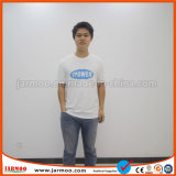 Черный Шелковый печать мужчин хлопка T футболка