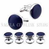 Cufflinks van de Smoking van het Email van Juwelen VAGULA de Blauwe Vastgestelde Manchetknopen van Nagels 6PCS