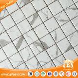 Blanco de Carrara tira al azar Mosaico de ladrillo de Metro moderno Matt (V671001)