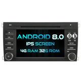 Automobile DVD del Android 8.0 di memoria di Witson otto per lo schermo della ROM IPS dello schermo di tocco della ROM 1080P della Porsche Caienna 4G 32GB