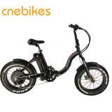 女性のための白くか黒い48V 500Wの電気折るバイク