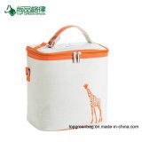 Personalizar el lienzo encerado de alta calidad modelo simple almuerzo bolso del refrigerador