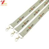 Kundenspezifische Firmenzeichen-Polyester-Abzuglinie mit Metallhaken für Ausstellung (YB-l-026)