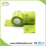 Cor veterinários não tecidos de alta qualidade flexível bandagem Coeso