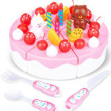 O brinquedo plástico do bolo de aniversário da venda quente finge o jogo